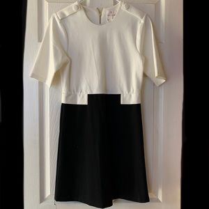 Julie Brown NYC black/white s/s dress EUC